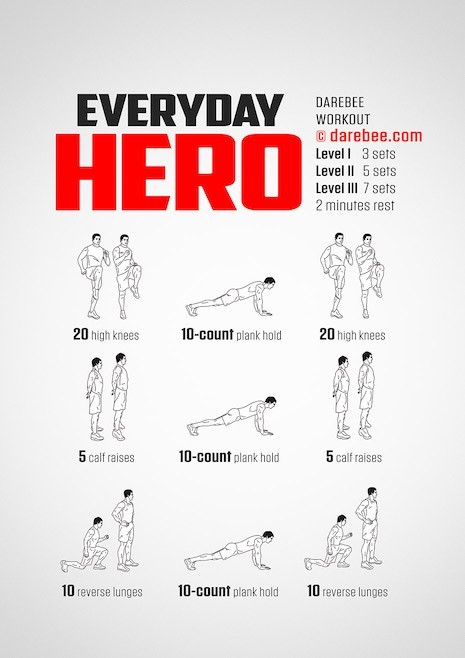 Stay fit with Darebee workout posters