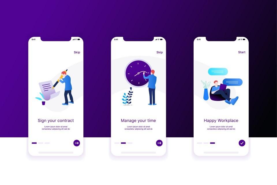 HR Suite Mobile Screens
