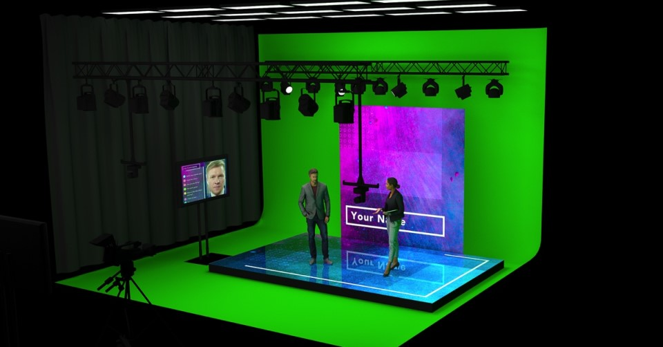 Virtual Stage with 2 presenters